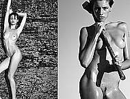 Aida Becheanu full frontal nude b-&-w scans