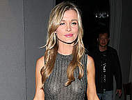 Joanna Krupa no bra under see through dress