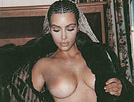 Kim Kardashian sexy, see through & topless