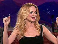 Heather Graham looking sexy at Conan show