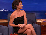 Evangeline Lilly sexy at Conan O Brien show