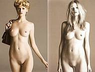 Fashion model Lara Stone fully nude & topless