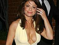 Paula Abdul showing deep cleavage at redcarpet