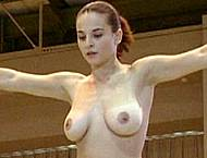 Corina Ungureanu topless doing gymnastics