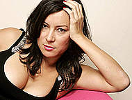 Busty Jennifer Tilly sexy posing photoshoot