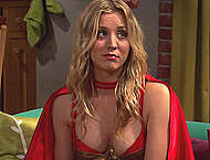Kaley Cuoco hard nipples and cleavage vidcaps